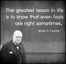 Churchill- fools