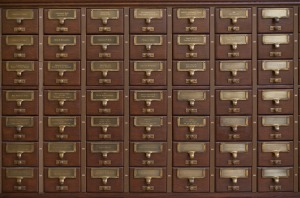 card catalog, drawers, antique